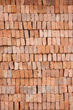 Red clay block Stock Photography