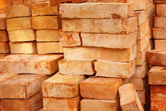 Red clay brick Royalty Free Stock Images