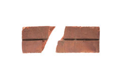 Red clay brick deduct on white background royalty free stock photography