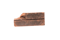 Red clay brick deduct on white background royalty free stock photos