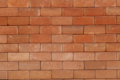 Red clay brick wall background Royalty Free Stock Image