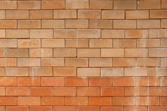 Red clay brick wall background. Stock Photos