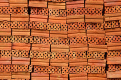 Red Clay Bricks Stock Image