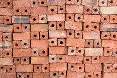 Red clay bricks for construction.  Stock Photography