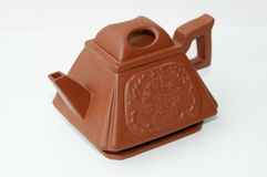 Red clay Chinese tea pot Stock Images