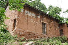 Red clay house Royalty Free Stock Photo