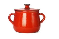 Red clay pot Royalty Free Stock Photos