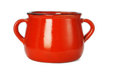 Red clay pot Stock Image