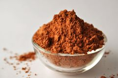 Red clay powder Montmorillonite in bowl Royalty Free Stock Photos