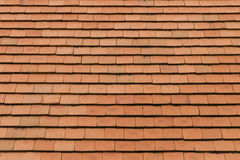 Red clay roof. Tile background, outdoor day light Royalty Free Stock Photography