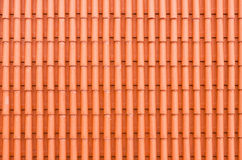 Red clay roof tiles. Texture of red clay roof tiles Royalty Free Stock Photo