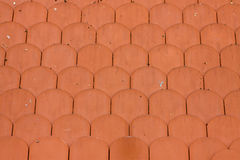 Red clay roof tiles. Texture of red clay roof tiles Royalty Free Stock Photos