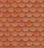 Red clay roof tiles Stock Image