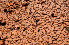 Red clay soil Royalty Free Stock Photography
