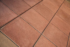 Red Clay Tile Floor Stock Photography