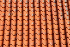 Red Clay Tile Roof on Old Farm House Horizontal Royalty Free Stock Photography