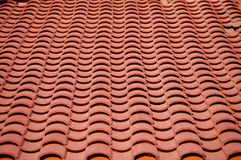 Red clay tiles roof pattern Stock Image