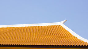 Red clay tiles roof pattern Stock Photo