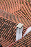 Red clay tubular tiled rooftops Stock Photography