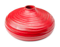 Red clay vase Stock Photography