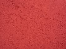 Red clean plastered surface Stock Photo
