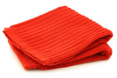 Red cleaning cloth Royalty Free Stock Images
