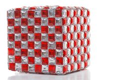Red and clear mirror cube Stock Photography