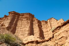 Red cliff, Argentina. Royalty Free Stock Image