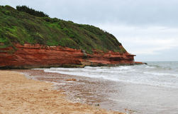 Red cliff. Stock Photo
