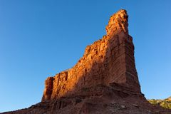 Red cliff at Caprock Canyon Texas Stock Images