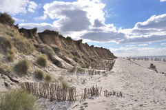 Red cliff Sylt. Red cliff at Sylt near Kampen Royalty Free Stock Photos