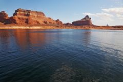 The red cliffs stock photo