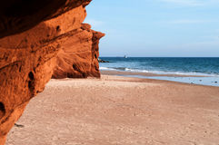 Red Cliffs at Dune de Sud Royalty Free Stock Photography
