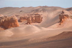 Red cliffs in Gobi desert Royalty Free Stock Image