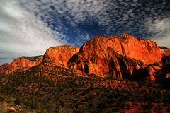 Red Cliffs of Kolob Canyon Royalty Free Stock Photo