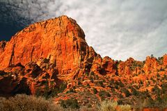 Red Cliffs of Kolob Canyon Stock Photos