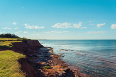 Red Cliffs near East Point Lighthouse Royalty Free Stock Photos