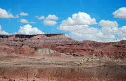 Red cliffs, plateaus of Arizona. And a blue sky with clouds Stock Photography
