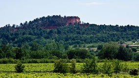 The Red Cliffs of Provence Royalty Free Stock Photography