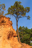 Red Cliffs in Roussillon (Les Ocres) stock images