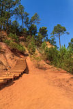 Red Cliffs in Roussillon (Les Ocres) Royalty Free Stock Images