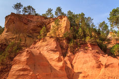 Red Cliffs in Roussillon (Les Ocres) Stock Image