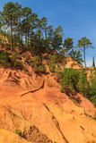 Red Cliffs in Roussillon (Les Ocres) Royalty Free Stock Photos