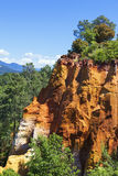 Red Cliffs in Roussillon Stock Images
