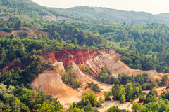 Red Cliffs in Roussillon, Provence, France Royalty Free Stock Photo