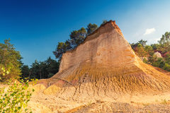 Red Cliffs in Roussillon, Provence, France Stock Photo