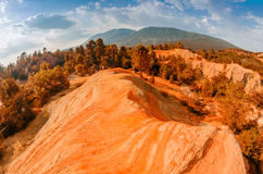 Red Cliffs in Roussillon, Provence, France Stock Photography