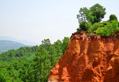 Red Cliffs in Roussillon Royalty Free Stock Photo