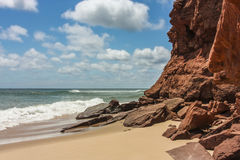 Red Cliffs by the Sea Royalty Free Stock Images