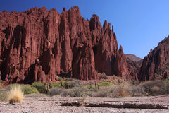 Red Cliffs in Tupiza. A red desert landscape in Tupiza district of south Bolivia Royalty Free Stock Image